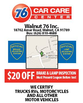20 Off Brakes And Lamps Inspection Walnut Ca